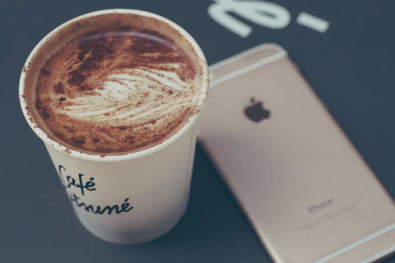 coffee and iphone