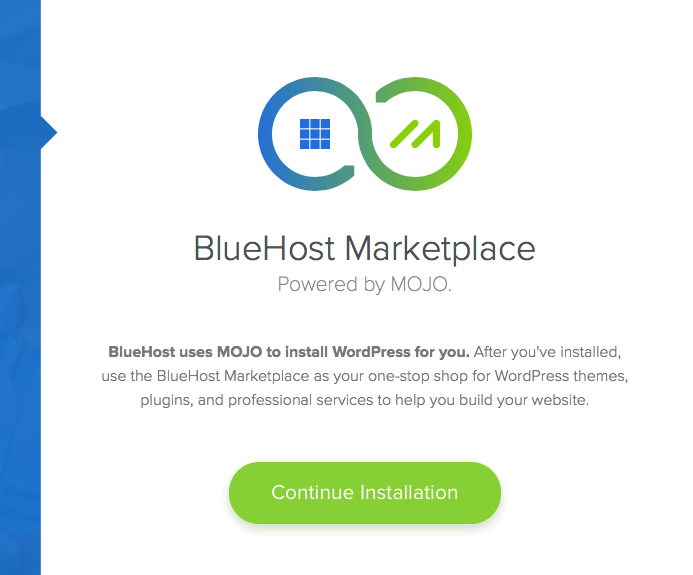 Bluehost Install WP Mojo marketplace